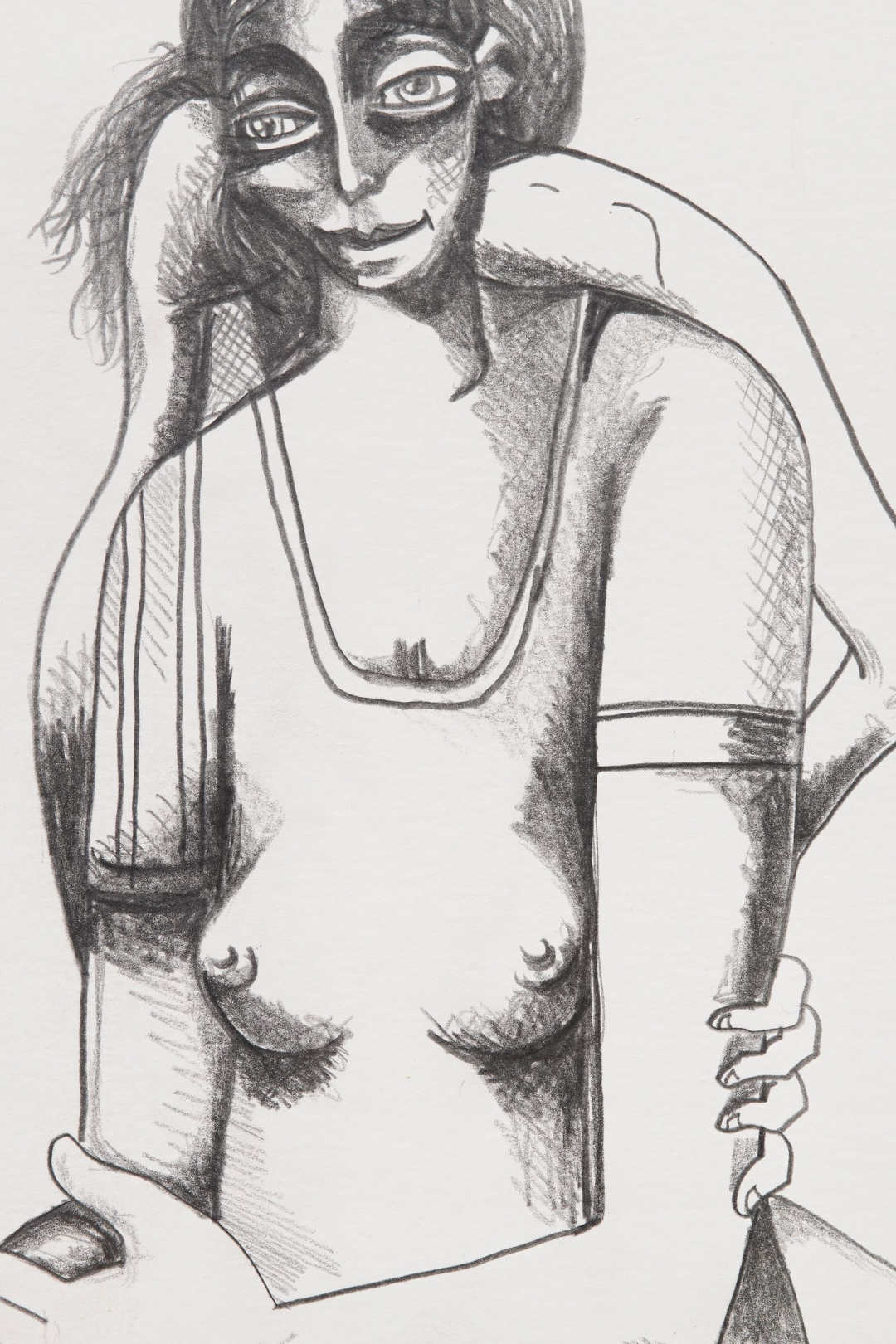 George Condo, <i>Study for Incomprehensible Dream I</i>, 2003, Pencil on paper, 12 5/8 x 9 1/2 in. (32 x 24 cm)