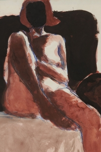 Richard Diebenkorn, <i>Untitled</i>, 1968, ballpoint pen, watercolor and gouache on paper, 17 x 14 in. (43.18 x 35.56 cm)