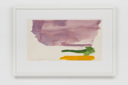 Helen Frankenthaler, <i>Untitled</i>, 1970, Acrylic on paper, 11 x 20 1/2 in. (27.94 x 52.07 cm)