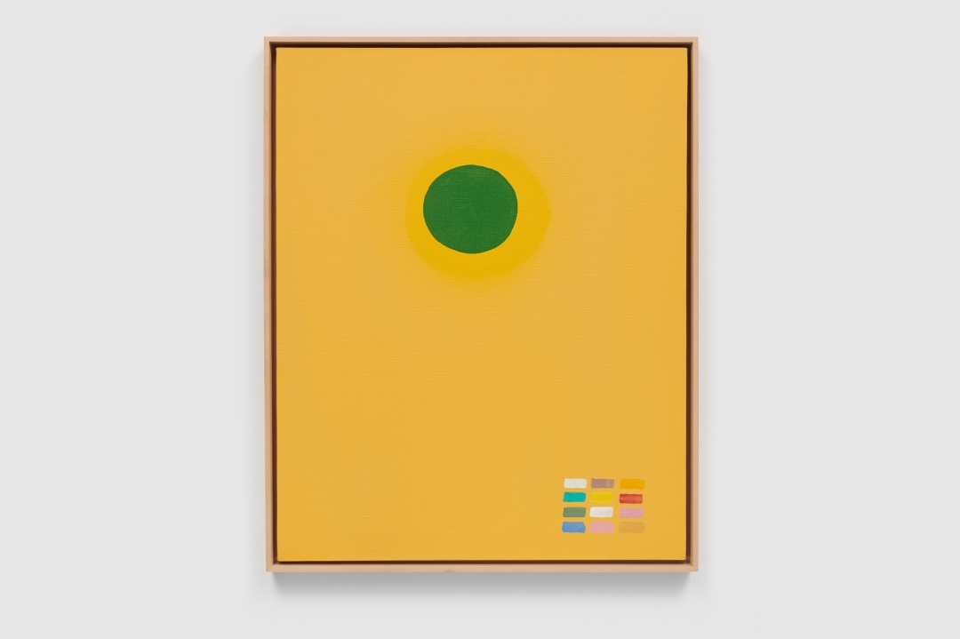 Adolph Gottlieb, <i>Green Disc</i>, 1969, oil on linen, 30 x 24 in. (76.2 x 61 cm)