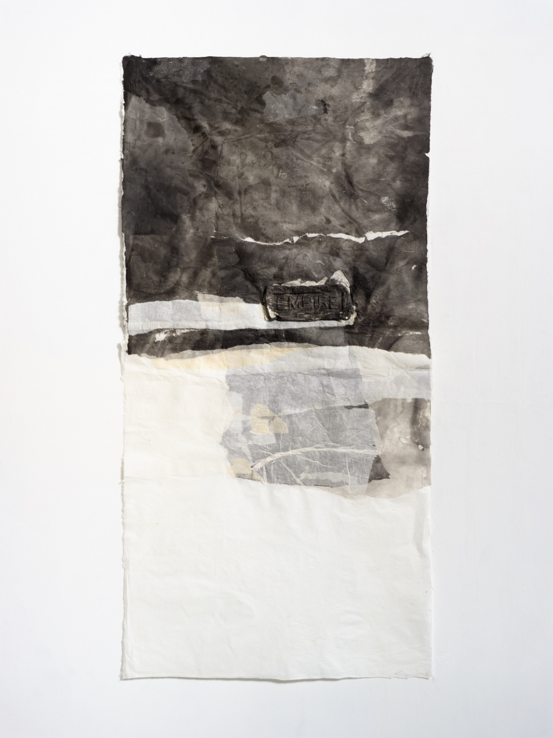 Lin Yan, <i>Common Words - Empire, Pray, Roses 10, 2018</i>, 2018, ink and Xuan paper, 55.5 x 27.6 in 141 x 70 cm