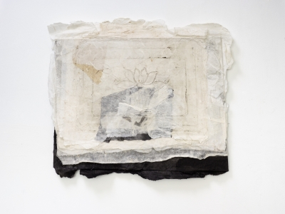 Lin Yan, <i>The Lotus Pond, 2016</i>, 2016, ink and Xuan paper, 16.9 x 17.7 in 43 x 46 cm