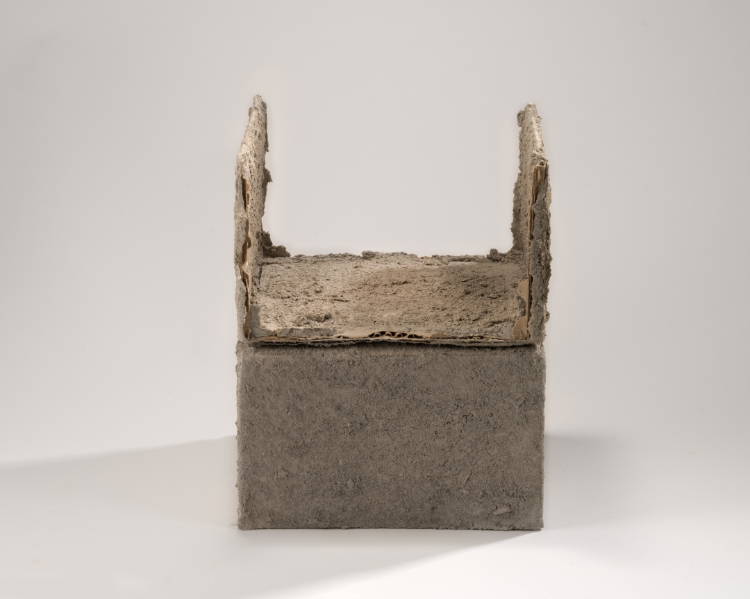 Richard Fleischner, <i>Untitled #19</i>, 2014-15, earthen-plaster, cardboard, 11 x 9 x 91/4 inches (27.9 x 22.9 x 23.5 cm)