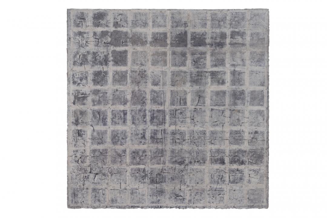 Richard Fleischner, <i>Untitled Gouache</i>, 2018, gouache on paper, 23 1/2 x 23 1/2 inches (59.7 x 59.7 cm)