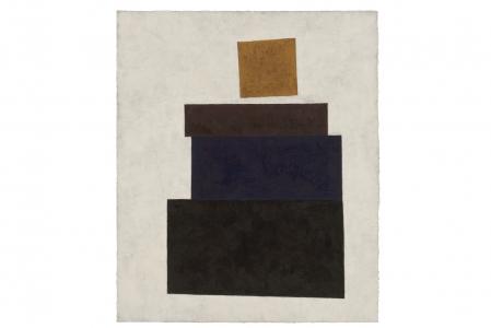 Richard Fleischner, <i>Untitled Gouache</i>, 2019, gouache on paper, 20 3/8 x 16 15/16 inches (51.8 x 43 cm)