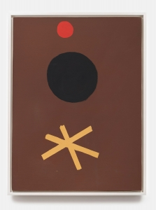 Adolph Gottlieb, <i>Asterisk on Brown</i>, 1967, Oil on canvas, 40 x 30 in. (101.60 x 76.20 cm)