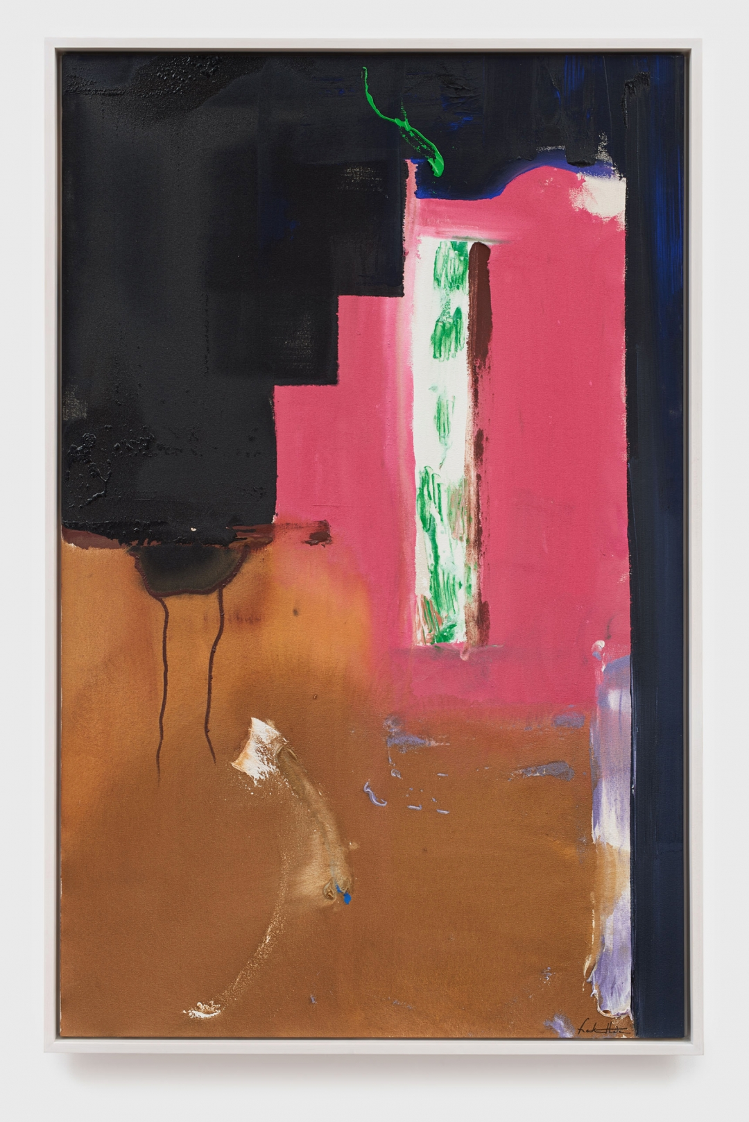 Helen Frankenthaler, <i>Aqueduct</i>, 1987, Acrylic on canvas, 159.40h x 100.30w cm / 62.76h x 39.49w in