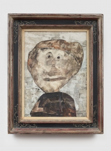 Jean Dubuffet, <i>Portrait d'Homme</i>, 1958, Collage mounted on board, 54.61h x 41.91w cm / 21.50h x 16.50w in