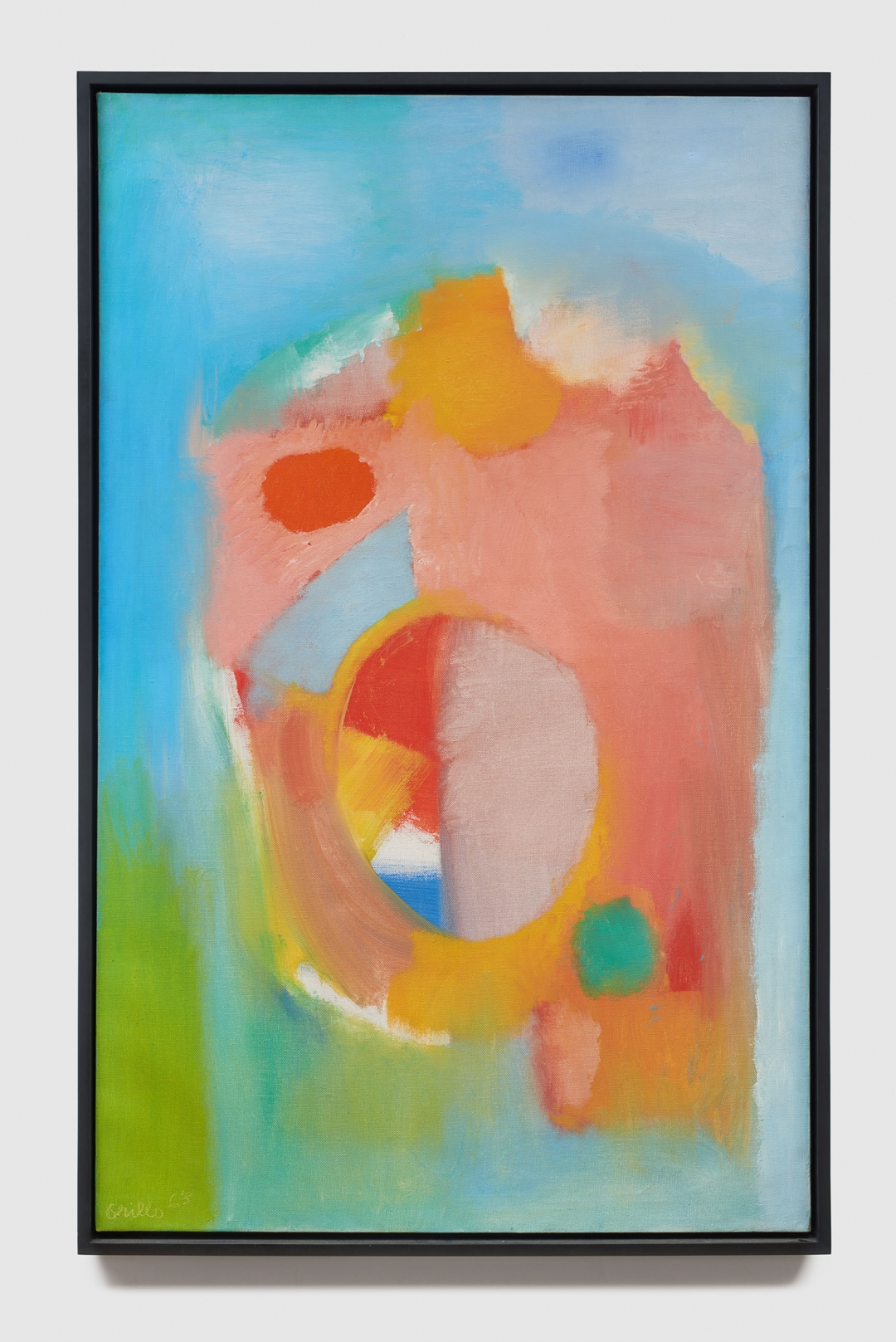 John Grillo, <i>Untitled</i>, 1963, Oil on canvas, 53h x 33 1/4w in (134.62h x 84.45w cm)