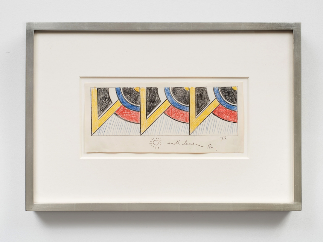 Roy Lichtenstein, <i>Drawing for Modern Painting Triptych II</i>, 1967, Graphite and colored pencils on paper, 4 1/4 x 10 in. (10.79 x 25.40 cm)