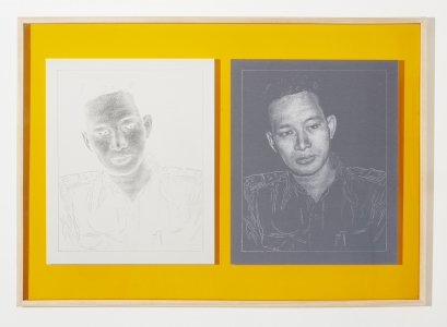 Boedi Widjaja, <i>Imaginary Homeland: 勇敢留下來 II (BRAVELY STAYED II)</i>, 2015, Archival print on Hahnemuehle German Etching, Diptych, 20.4 x 16.5 in. each