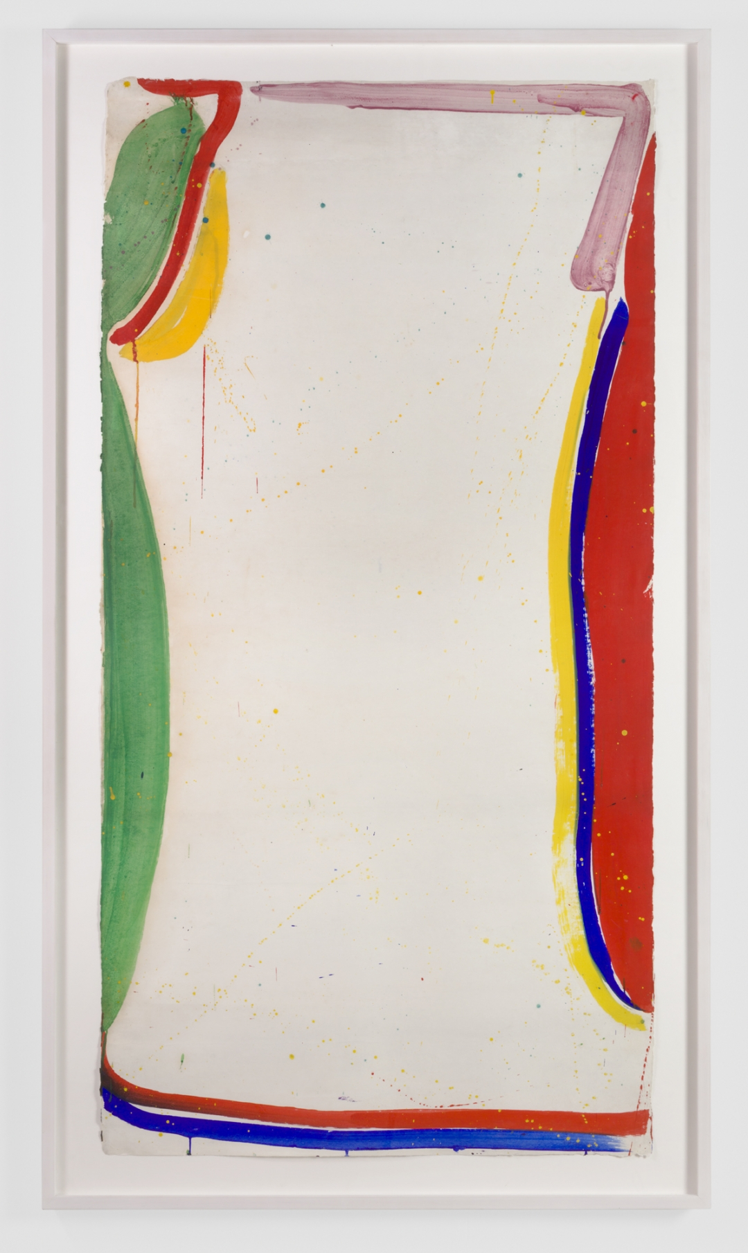 Sam Francis, <i>Untitled</i>, 1965, Gouache on Paper, 71 3/4h x 36 3/4w in / 182.2h x 93.3w cm