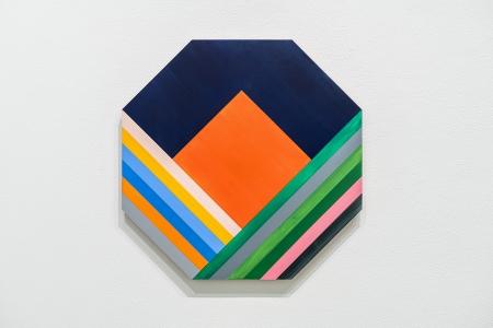 Anton Ginzburg, <i>ORRA_2C_04</i>, 2017, pigment and acrylic on wood, 24 x 24 in. (61 x 61 cm)