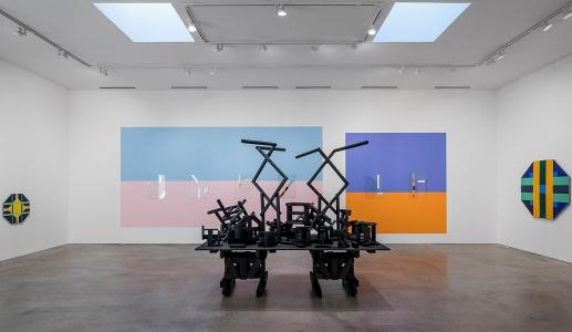 Anton Ginzburg, <i>Construction Proxy</i>, 2018, installation view, Barbara Davis Gallery