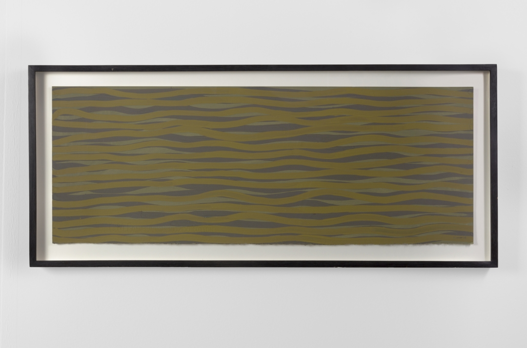 Sol LeWitt, <i>Horizontal Brushstrokes in Color</i>, 2003, Gouache on Paper, 11 x 30 in. (27.94 x 76.20 cm)