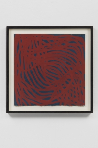 Sol LeWitt, <i>Untitled (Irregular Lines)</i>, 2002, Gouache on paper, 14 3/4h x 14 3/4w in (37.5 x 37.5 cm)
