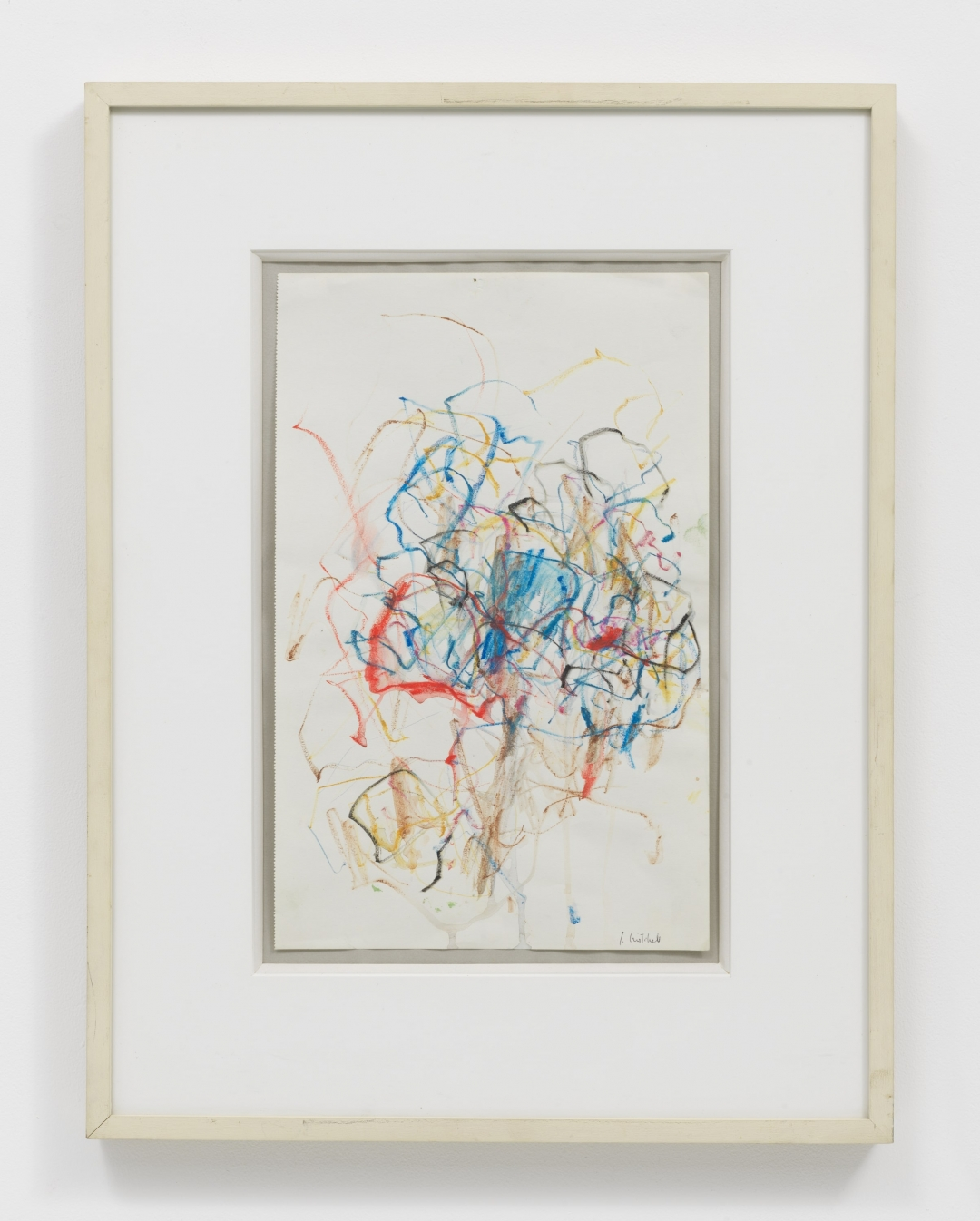 Joan Mitchell, <i>Tree</i>, c.1967, water-soluble wax crayon and wash on paper, 14 1/2 x 9 1/8 in. (36.83 x 23.18 cm)