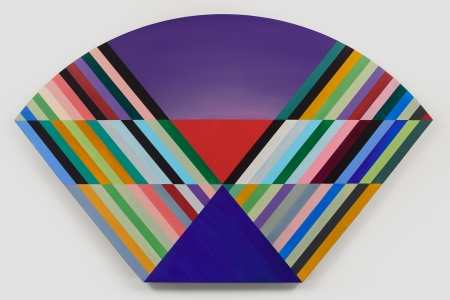 Anton Ginzburg, <i>VIEW_5A_02</i>, 2018, Pigment and acrylic on wood, 37.5 x 60 in.