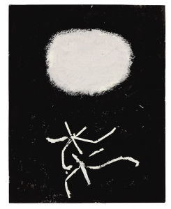 Adolph Gottlieb, <i>Flying Lines</i>, 1967, acrylic on paper, 24h x 19w in