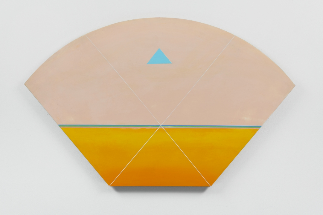Anton Ginzburg, <i>VIEW_3A_06</i>, 2018, Pigment and acrylic on wood, 22.5 x 36 in.