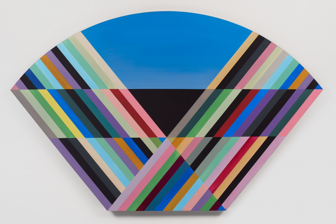 Anton Ginzburg, <i>VIEW_5A_04</i>, 2018, Pigment and acrylic on wood, 37.5 x 60 in.