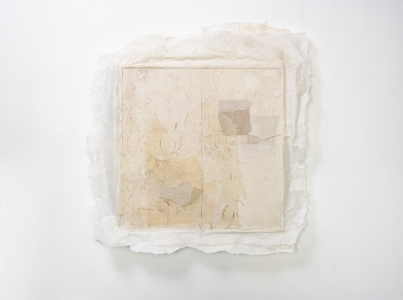 Lin Yan, <i>Ending Game II (清场), 2018</i>, , ink and Xuan paper on wood panel, 28 x 26 in, 71.1 x 66 cm