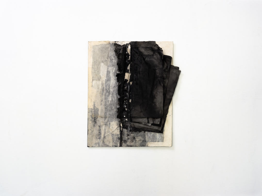 Lin Yan, <i>Between Day and Night 3, 2019</i>, , ink and Xuan paper on masonite board, 20 x 16 in, 50.8 x 40.6 cm