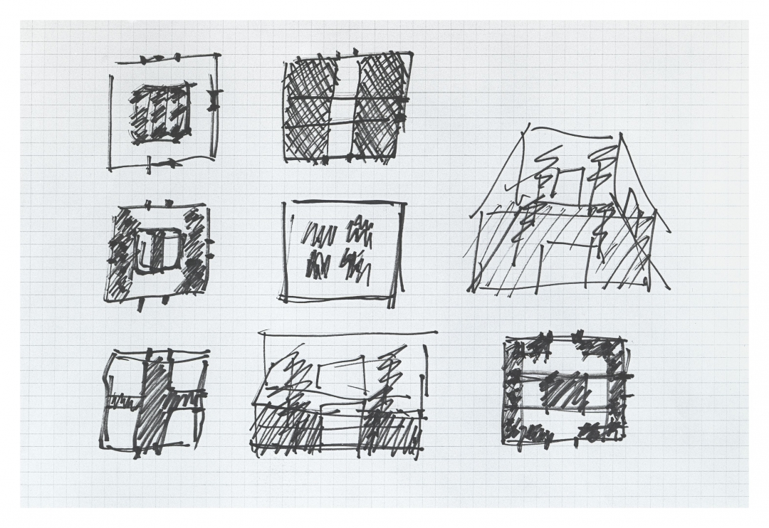 Richard Fleischner, <i>Dallas Museum of Art, Courtyard Project. Concept Sketch</i>, project executed 1981-83, restored 2009-10, graphite on paper, 8.5 x 11 inches (21.6 x 28 cm)