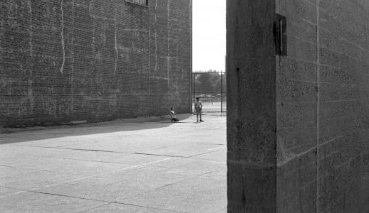 Richard Fleischner, <i>Handball Court Walls (Bronx, NY)</i>, 1965, silver gelatin print, 8 x 10 inches (20.3 x 25.4 cm)
