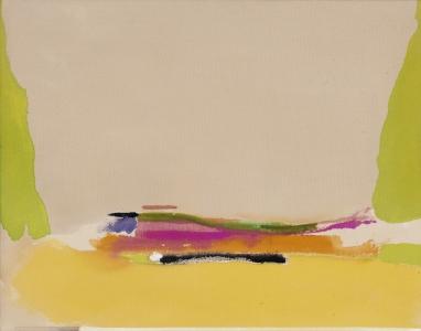 Helen Frankenthaler, <i>Untitled</i>, 1974, acrylic on unprimed canvas, 18 3/4 x 24 in (47.6 x 61 cm)