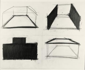 Richard Fleischner, <i>Untitled</i>, 1980-81, graphite on paper, 22 3/4 x 28 5/8 in 57.8 x 72.7 cm