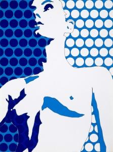Werner Berges, <i>Brustbild</i>, 1969, mixed media on cardboard, 31 1/2 x 23 5/8 in (80 x 60 cm)