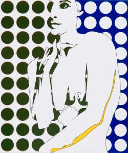 Werner Berges, <i>Halbakt</i>, 1972, mixed media on cardboard, 19 3/4 x 16 1/2 in (50 x 42 cm)