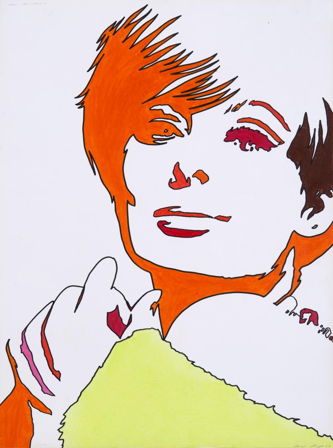 Werner Berges, <i>Kopf</i>, 1968, mixed media on cardboard, 31 1/2 x 23 1/4 in (80 x 59 cm)