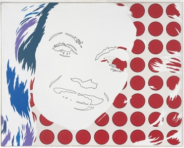 Werner Berges, <i>Miss Miss</i>, 1970, acrylic on canvas, 31 1/2 x 39 3/8 in (80 x 100 cm)