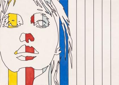 Werner Berges, <i>o. T.</i>, 1969, mixed media on cardboard, 19 3/4 x 27 1/2 in (50 x 70 cm)