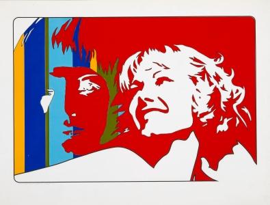 Werner Berges, <i>Wer sind sie</i>, 1971, mixed media on cardboard, 31 1/2 x 23 5/8 in (80 x 60 cm)