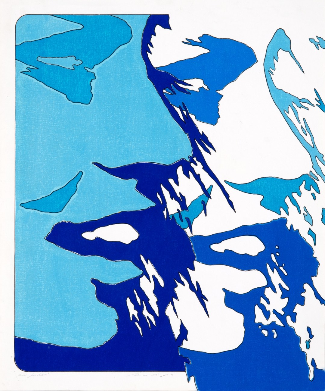 Werner Berges, <i>Zwei Gesichter</i>, 1970, mixed media on cardboard, 19 3/4 x 23 5/8 in (50 x 60 cm)