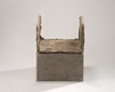 Richard Fleischner, <i>Untitled #19</i>, 2014-15, earthen-plaster, cardboard, 11 x 9 x 91/4 inches (27.9 x 22.9 x 23.5 cm)