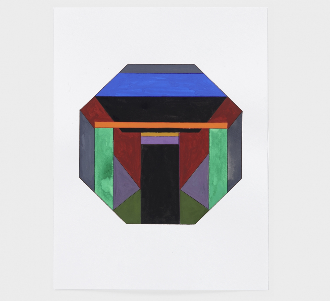 Anton Ginzburg, <i>Translucent Concrete Series, Study #12</i>, 2020, gouache and colored pencil on paper, 15 x 20 in (38 x 51 cm)