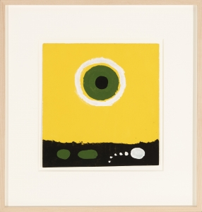 Adolph Gottlieb, <i>Untitled 6715</i>, 1968, acrylic on paper, 9 1/2 x 9 in. (24.1 x 22.9 cm)