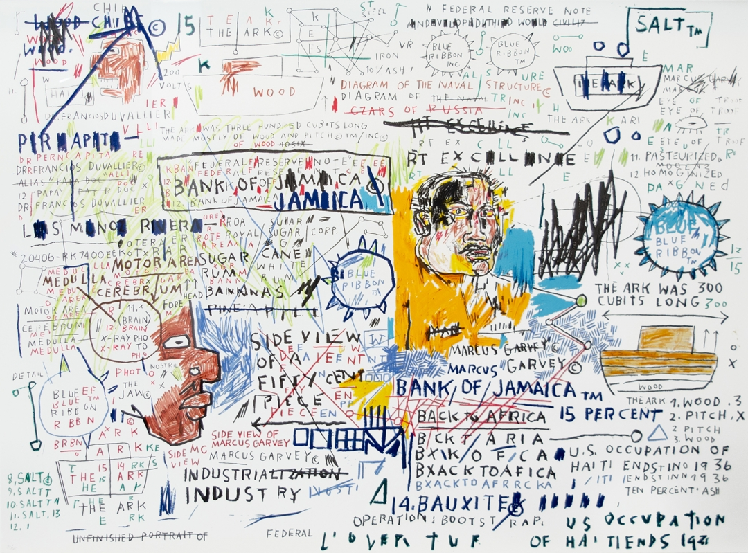 Jean-Michel Basquiat, <i>50 Cent Piece</i>, 1982-83/2019, screenprint, 29 x 39 1/2 in (73.7 x 100.3 cm), 32/60