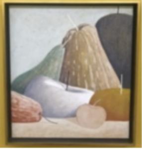 Nicolas Party, <i>Still life</i>, 2018, pastel on canvas, 28h x 25 1/4w in (71.12h x 64.14w cm)