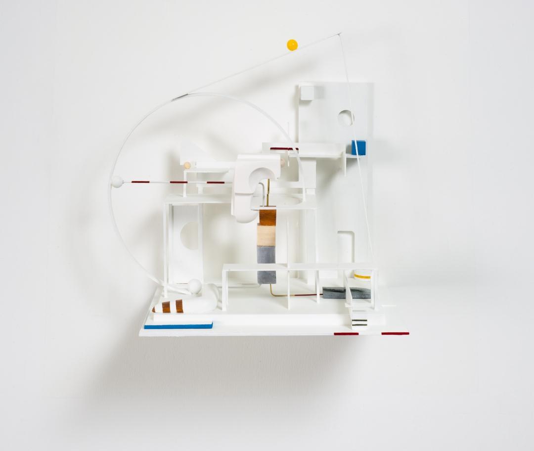 Christina Kruse, <i>Intermission</i>, 2021, metal, wood, plaster, soapstone, 9 x 13 x 15 in. (22.9 x 33 x 38.1 cm). Ed. 1/3., Ed. 1/3