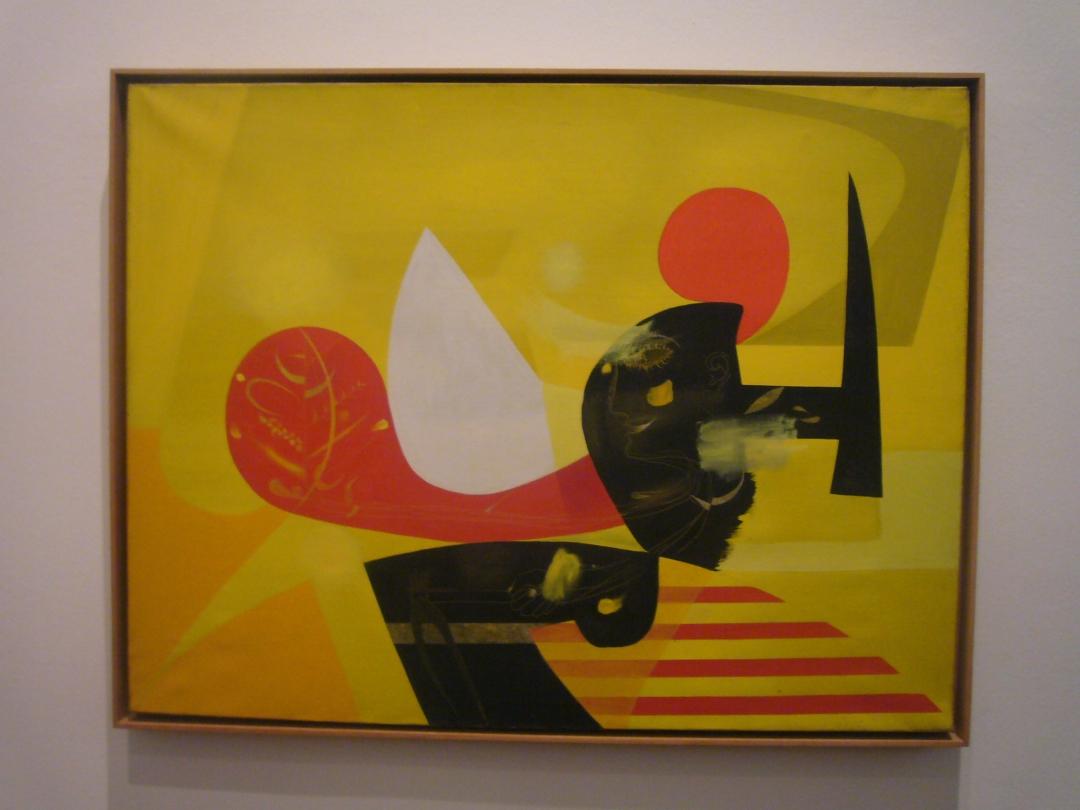 Antoni Tàpies, <i>Els Solcs</i>, 1952, oil on canvas, dimensions unavailable. Image courtesy Fundació Tàpies, via Wikimedia Commons.
