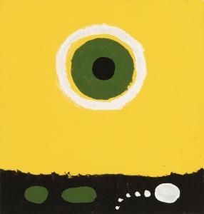 Adolph Gottlieb, <i>Untitled 6715</i>, 1968, acrylic on paper, 9 1/2 x 9 in. (24.1 x 22.9 cm)