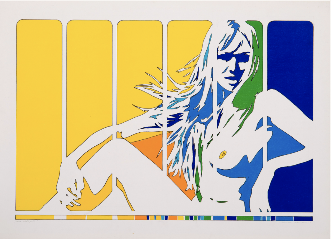 , <i>Ganz schön gelb</i>, 1971, mixed media on cardboard, 21 7/8 x 30 3/4 in (55.5 x 78 cm)